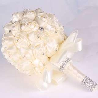 Trending ribbon crystal bridla bouquet