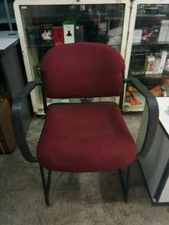 Maroon visitors chair