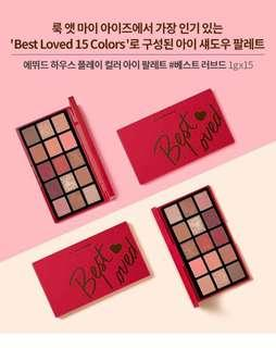 Etude house play color Eyeshadow Palette best loved