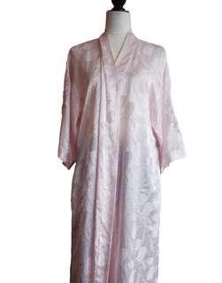 80's silk robe