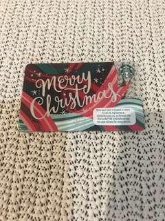 """Starbucks """"Merry Christmas"""" card fr Australia"""