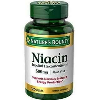 Nature's Bounty Niacin Flush Free 500 mg 120 caps