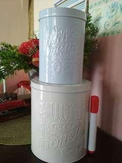 Sugar & coco tin container