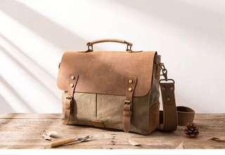 Vintage genuine leather camera bag