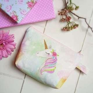 CUSTOM CANVAS POUCH unicorn