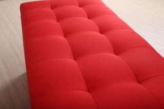 Large Storage Bench Fabric Red
