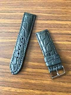 "24mm/22mm Authentic Space Grey Alligator 🐊 Crocodile Watch Strap for Panerai Watch 🌟 (unique rugged grains) ""rugged outback series"""