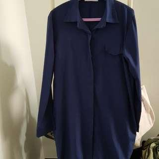 Blogshop navy shirt dress
