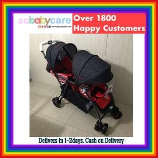 FREE DELIVERY *5 Sets at Special Price* Double Stroller