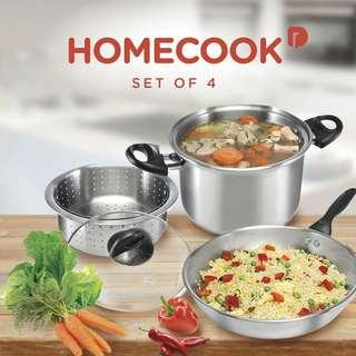 Wajan Stainless Homecook Set 4