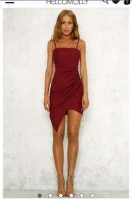 hello molly red formal dress
