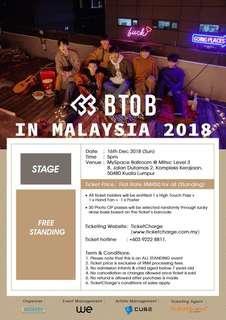 BTOB IN MALAYSIA TICKET