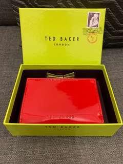 🈹Ted Baker red wallet 紅色銀包