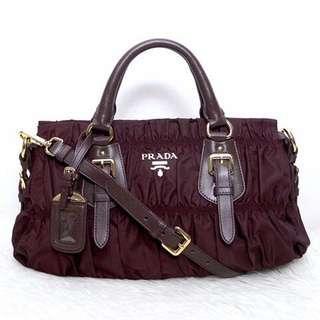 Prada nylon gaufre handbag
