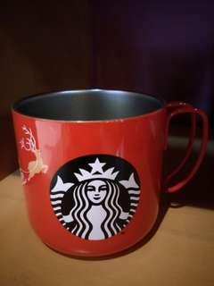 🆕Starbucks Mug12oz SS Red