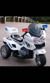 Big police bike electric ride on rechargeable
