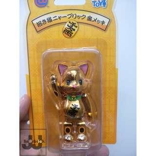 NYBrick NY@Brick Gold Lucky Cat 100% 金色 招財貓 Bearbrick fortune cat gift birthday 生日禮物