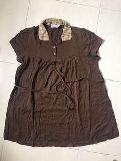 Maternity blouse brown