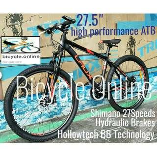 """High Performance 27.5"""" Aluminium ATB / All Terrain Bike ☆ Shimano 27Speeds, Hydraulic Disc Brakes, Lockout Suspension. Brand New Bicycle *Laux -designed in Italy."""