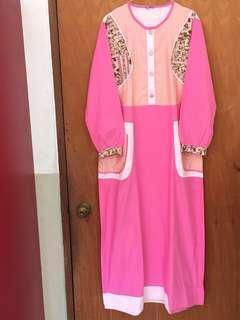 Gamis cantik pink