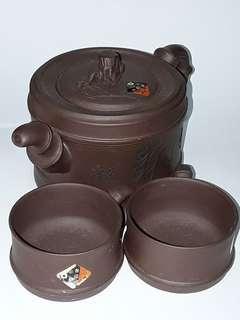 Yixing Zisha Teapot set with 4 teacups