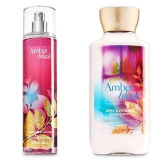 Amber Blush Perfume & Lotion Set