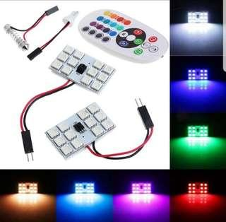 🚚 Car Interior LED Auto Light Controlled Multi Color and Flash Mode