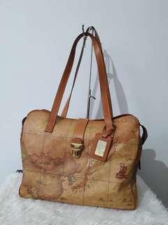 Authentic Alviero Martini Travel Bag Medium Sz