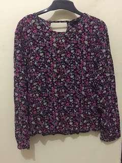 H&m flower blouse top