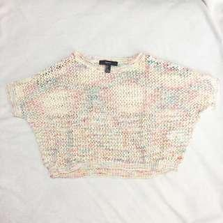 Forever 21 Colorful Crochet Knit Crop Top