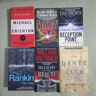 Assorted mystery/suspense books