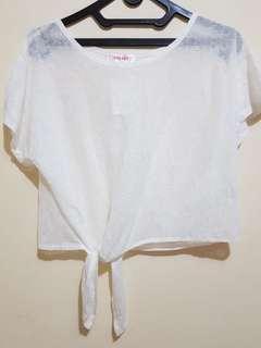 NEW Simple Top White Atasan Baju Wanita