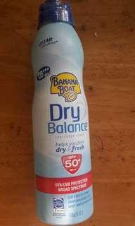 Banana Boat Dry Balance Sunscreen Spray SPF50