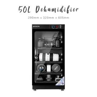 Dehumidifier / Dry Cabinet / Dry Box for camera (50L) with LED and electric panel