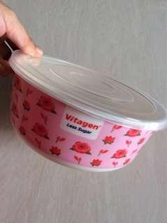Vitagen food plastic container