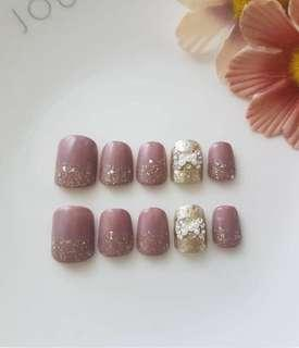 Press on square type nails