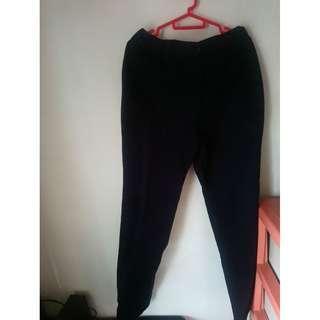Men's long black pants