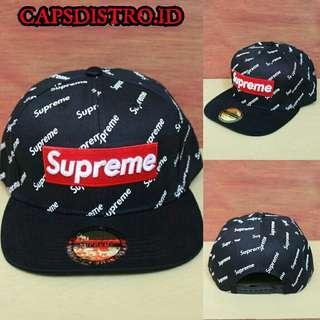 Topi Snapback Import Supreme Black