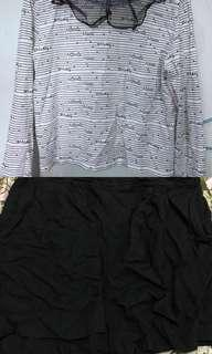 Korean Inspired Original Mickey Mouse Top and H&M shorts with pockets (good as new) (fit M-SL) (both spandex)