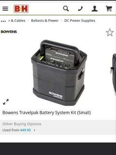(Fast deal at $250) Bowens Travelpak portable battery for Lighting