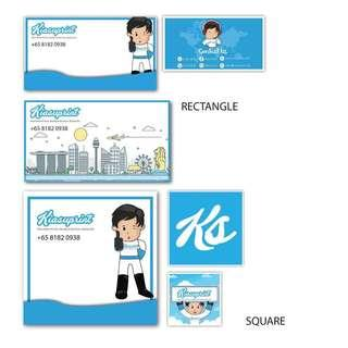 Cheap Name Sticker Printing / Label Printing