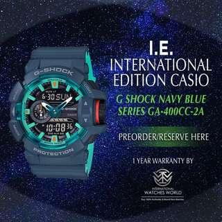 CASIO INTERNATIONAL EDITION G SHOCK LARGE CASE GA-400CC-2A NAVY BLUE SERIES