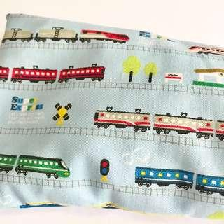 🌈 Bean Sprout Husk Pillow / Beanie Pillow , Fabric from Japan ( 100% Handmade 100% Cotton , Premium Quality!) Trains