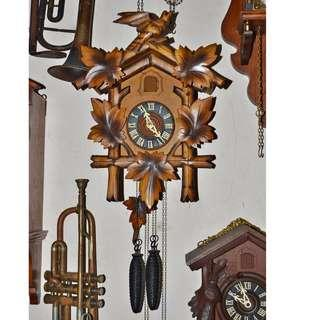 ANTIQUE VINTAGE HUBERT HERR WEIGHTS DRIVEN PENDULUM CUCKOO WALL CLOCK