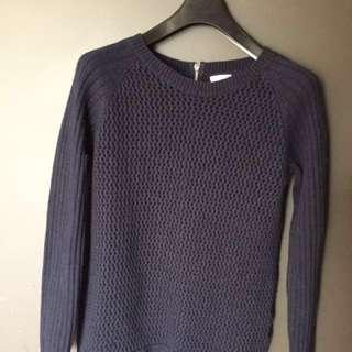 Dark blue knit sweater