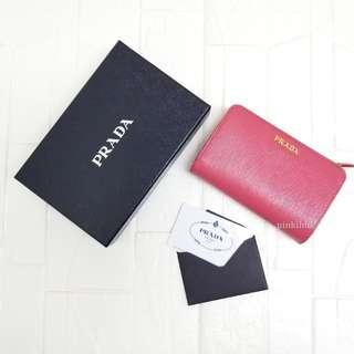 Prada Saffiano Leather Wallet with coin case