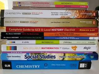 $8 AND BELOW!! SECONDARY 3 / 4 TEXTBOOKS & ASSESSMENT BOOKS