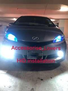Hid installation on Toyota wish      Suitable for Nissan Toyota Vios Altis Camry Volkswagen scirocco Jetta Golf Passat Mercedes c200 c180 Honda Civic Crossroad