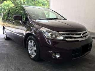 16/11-19/11 NISSAN PRESAGE 8 SEATER $285 (P PLATE WELCOME)