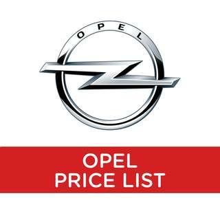 Opel Price List